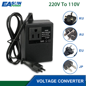 Image 1 - מתח צעד למטה שנאי 200W 220V כדי 110V צעד למטה נסיעות תמיכה האיחוד האירופי Plug מתח שנאי ממיר