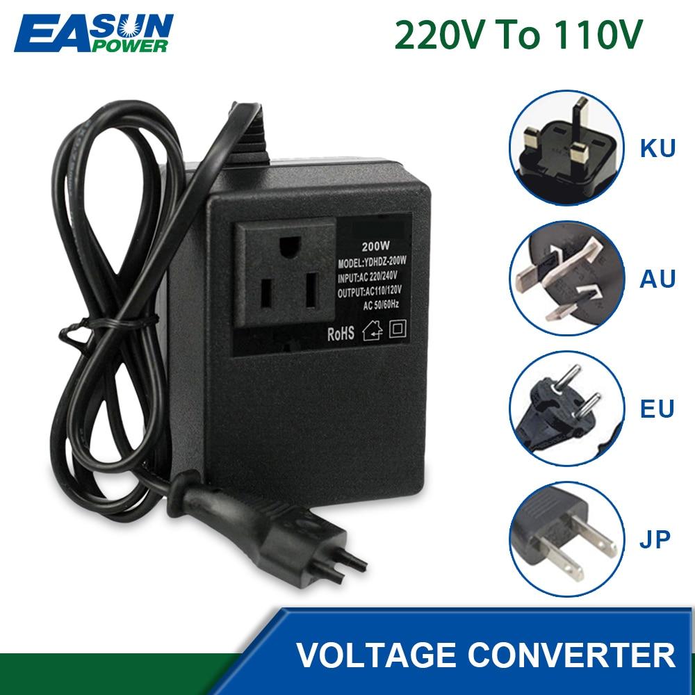 200W Spannung Wandler Transformator 220V auf 110V AbwäRt Wandler Spannung I6P5