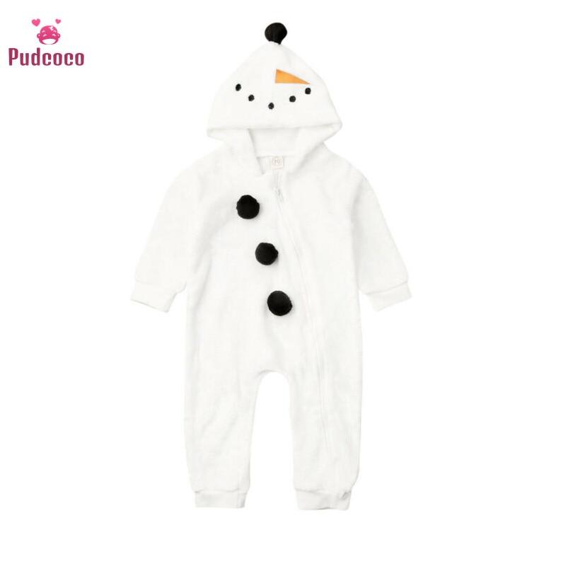 Pudcoco Brand Frozen Newborn Kids Baby Boy Girl Olaf Snowman Romper Jumpsuit Winter Warm Clothes