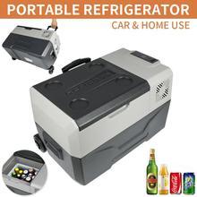 12/24V 220V двойное использование Портативный автомобильный холодильник морозильник холодильник Путешествия автомобиля домой с USB Выход приложение Управление