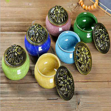 Queimadores de incenso cerâmica cor diferente escolha portátil porcelana censer budismo incenso titular casa chá casa yoga estúdio