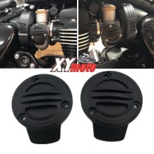 Throttle Covers For Triumph Bonneville Bobber Black Ribbed Throttle Body Covers Kit T120 Speedmaster Thruxton 1200 R 2016-2019