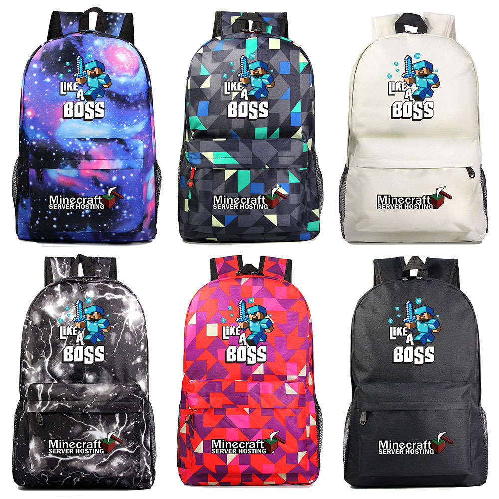 2019 New Hot Games Like A Boss MineCraft Sword Boy Girl Book School Bag Women Bagpack Teenagers Schoolbags Men Student Backpack