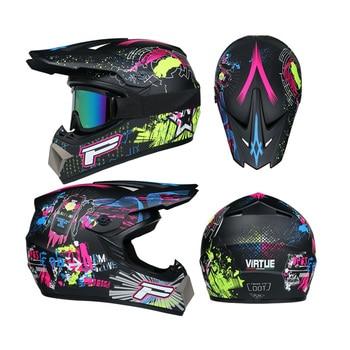 Motor Bike Cross Racing Motorcycle Helmet Safety Enduro Capacete Motorrad Cascos Downhill Bicycle Engine Cafe Racer ATV Helmets 2