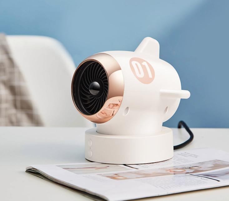Creative New Mini Plane Heater Domestic Cross-border Gift Customized Swing Table Top Mute Heater