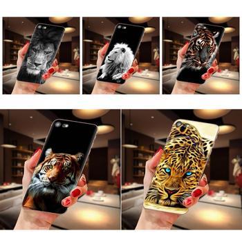 Funda de teléfono bonita con León en piedra para Xiaomi Mi3 Mi4 Mi4C Mi4i Mi5 Mi 5S 5X 6 6X 8 SE Pro Lite A1 Max Mix 2 Note 3 4