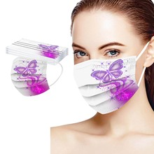 Fashion Butterfly Face Masks For Women Disposable Print 3-layers Protect Maske Masques Face-mask Female Masques No Decoration