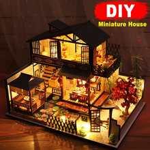 Наборы деревянных кукольных домиков «сделай сам», миниатюрный кукольный домик с мебелью, подарок для девочки, лучшая коллекция, набор для к...
