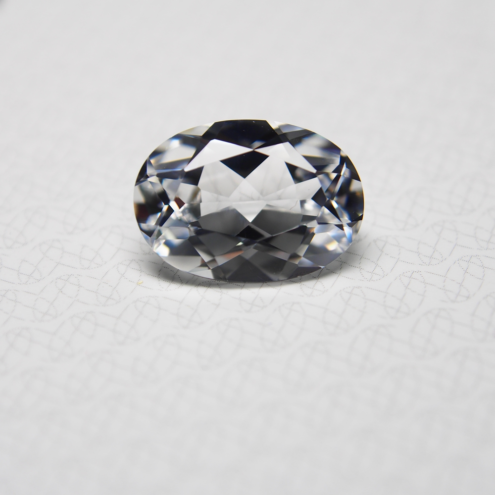 Oval cut 14*10mm 2 Piece /alot 7.8 carat hight Quality laboratory White sapphire Loose Gemstone for fashion ring earring making