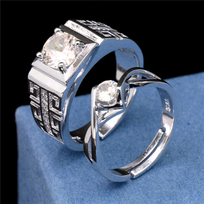 Crystal Rings Jewelry Gifts Silver-Plated Fashion Women Ladies New Engagement for Zircon