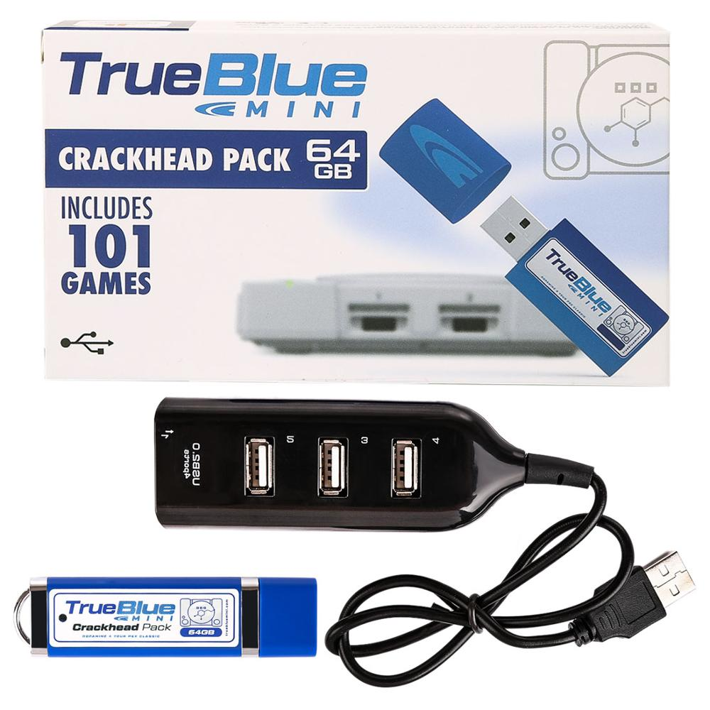 HOBBYINRC 64GB vrai bleu Mini Pack craquelé pour PlayStation classique jeux et accessoires 101 jeux V1