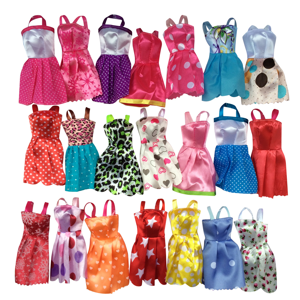 Ran10 Mix Sorts Beautiful Handmade Party Dress Fashion Clothes For Barbie Doll Kids Toys Gift Play House Dressing Up Costume