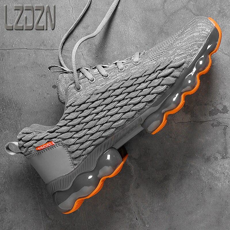 Erkek koşu ayakkabıları erkekler için spor eğlence tam eldiven yastık şok emilimi Ultra hafif tıknaz Sneakers yaz 2021 yeni bahar