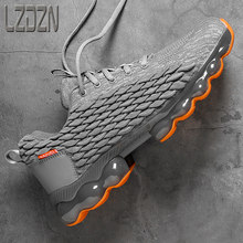 Hommes chaussures de course pour hommes sport loisirs pleine paume coussin Absorption des chocs Ultra léger épais baskets été 2021 nouveau printemps