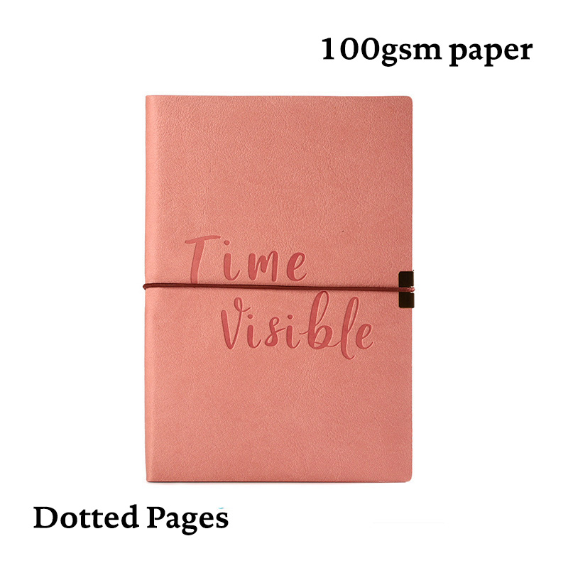 Bullet Dotted Journal Dot Grid Notebook        Elastic Band Soft Cover Cute Bujo Travel Planner Diary