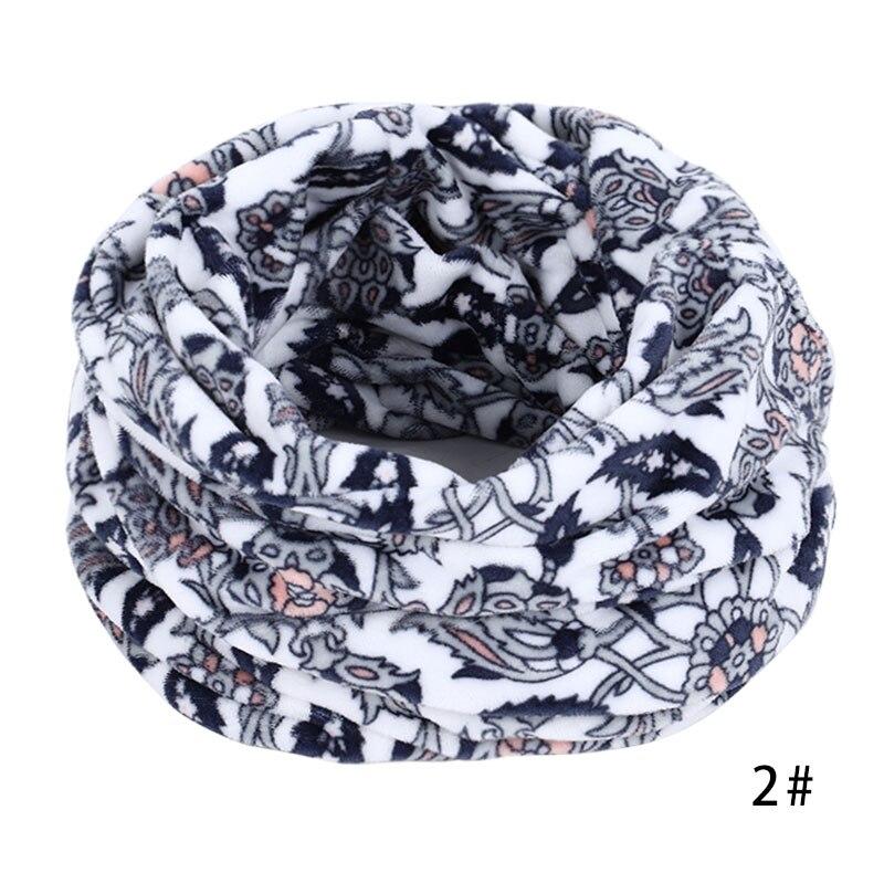 Новинка, осенне-зимний женский шарф с принтом для женщин, модный бархатный тканевый шарф, мягкий удобный женский винтажный шарф - Цвет: 2