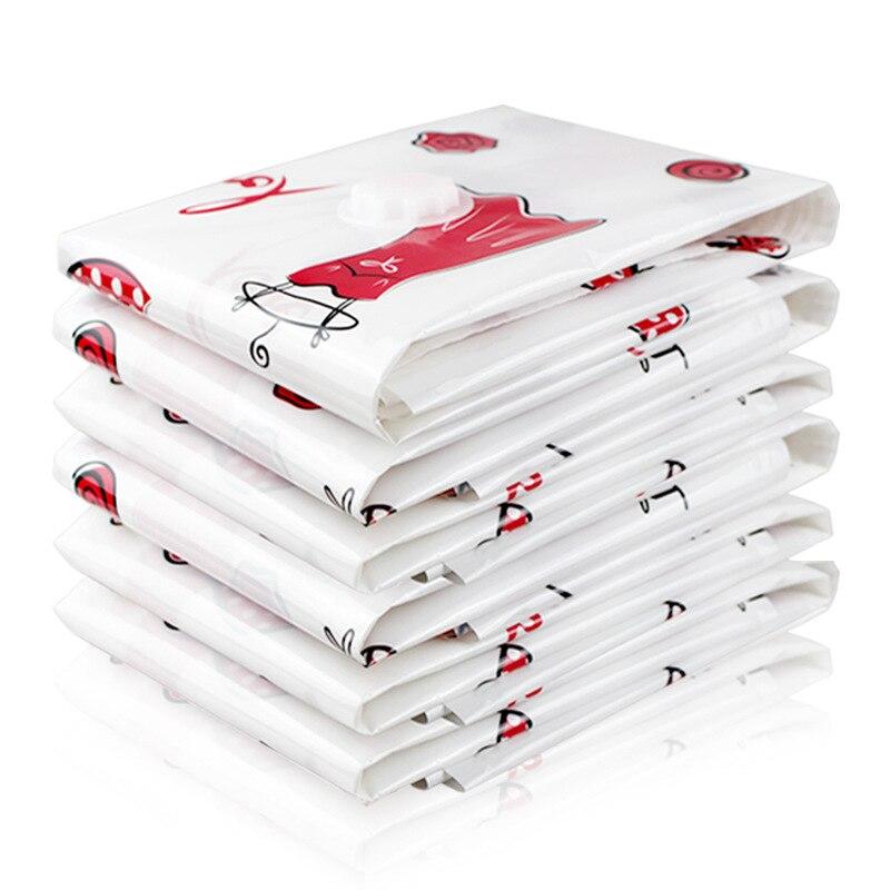 Вакуумный мешок для хранения, Домашний Органайзер, пыленепроницаемый мультяшный складной органайзер для одежды, сжатый для экономии места в путешествии, сумки, посылка - Цвет: Белый