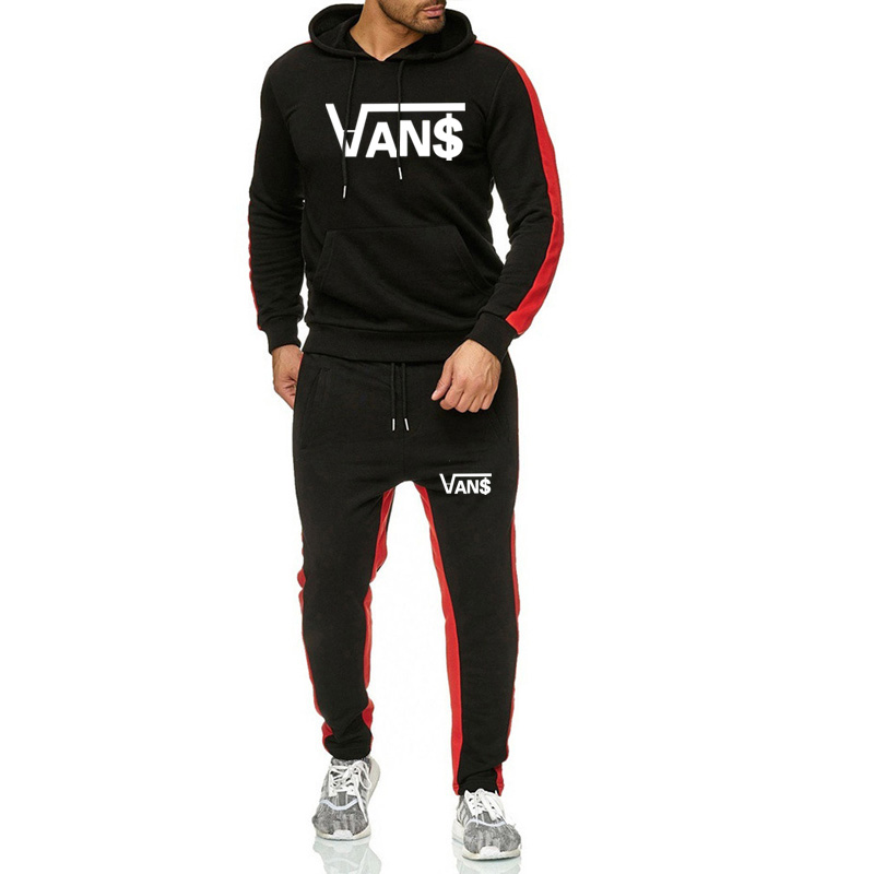 2019 Winter 2 Piece Set Chandal Hombre Jogging Tracksuit Set Track Suit Moletom Men Homme De Marque Hoodies+sweatpants De Marque