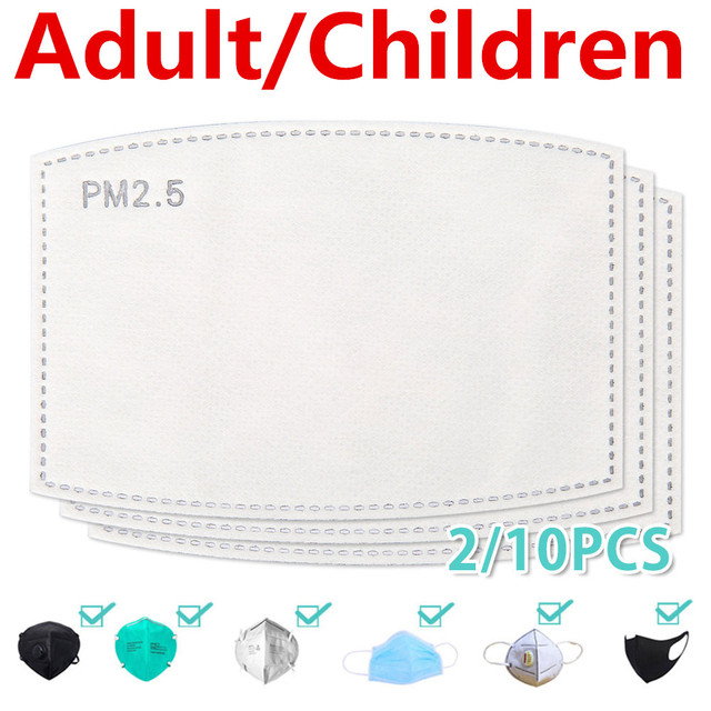 100/10 PCS PM 2.5 Filter Mouth Paper Face Mouth Masks Dustproof Mask Protective Cover Masks Bacteria Proof Flu Face Heath Care