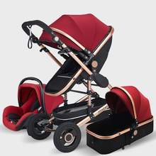 Baby Stroller 3 in 1 with Car Seat High Landscape Pram Foldi