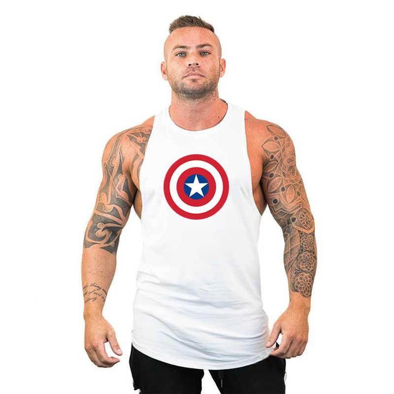 Marca Bodybuilding ropa Fitness hombre Joggers chaleco sin mangas de algodón de verano camiseta gimnasio Tank Top photoreal