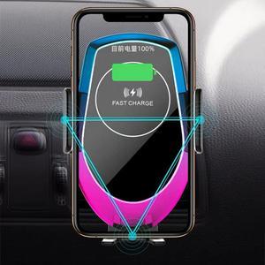Image 5 - Qi 15 w carro sem fio auto hholder carregador de vidro sucção baseado veículo sem fio para iphone xr xiaomi huawei cabo forte