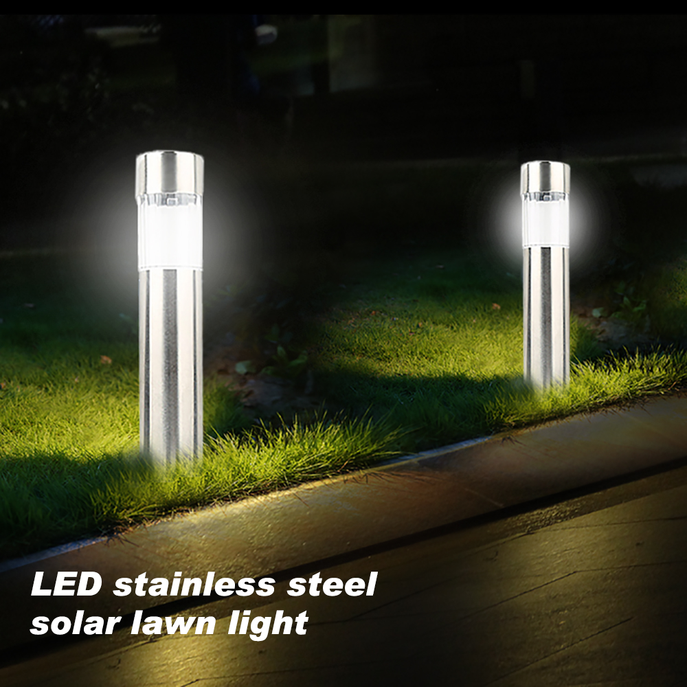 Stainless Steel LED Solar Lawn Lamp Outdoor Ground Garden Light Waterproof For Garden Landscape Patio Path Lamp