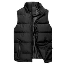 Осенний Повседневный жилет, мужские зимние куртки, толстые жилеты, мужские пальто без рукавов, мужской теплый жилет с хлопковой подкладкой, мужской жилет veste homme