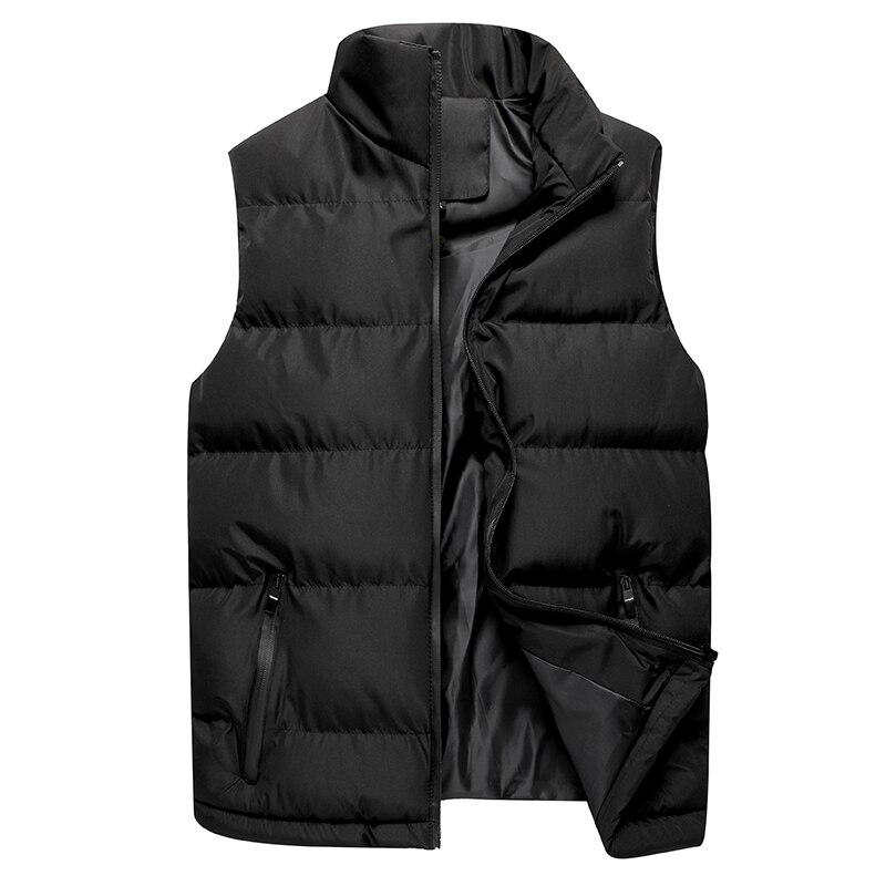Autumn Casual Vest Men Winter Jackets Thick Vests Man Sleeveless Coats Male Warm Cotton-Padded Waistcoat Men Gilet Veste Homme