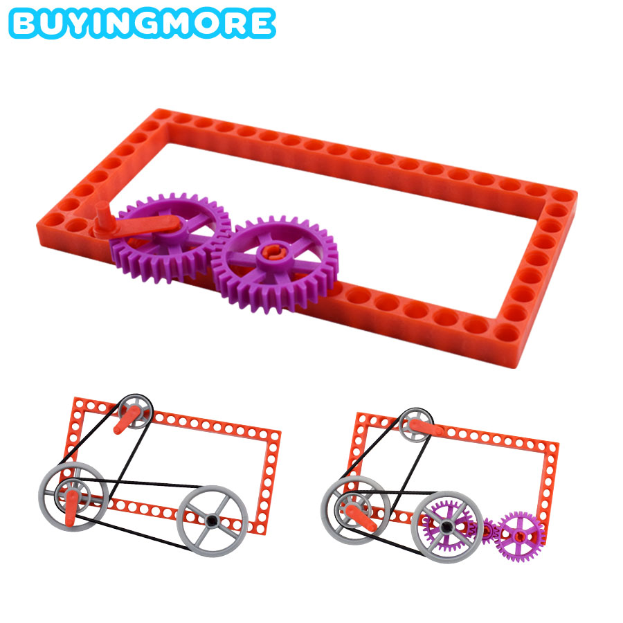 DIY Kit Gear Pulley Physics Toys for Kids Educational Tecnologia Science Experiment Sets Learning Toys Plastic Model Assemble