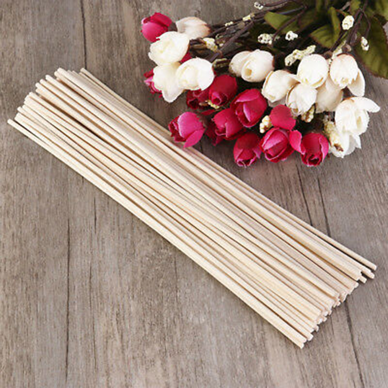 100pcs Natural Rattan Reed Sticks Fragrance Diffuser Aroma Perfume Volatilization Home Living Room Decorations