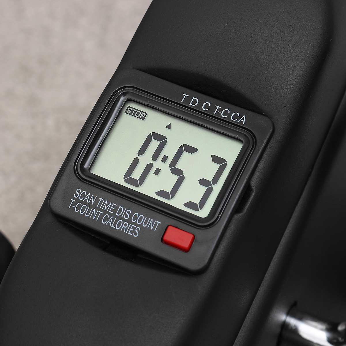Affichage LCD Mini pédale exercice vélo formateur Cycle intérieur vélo vélos Stepper maison gymnastique Fitness outils bras/jambe physiothérapie - 3