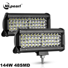 Car-Light-Assembly Spot-Beam Offroad Truck Nlpearl 4x4 for Cars SUV Trator Bar 4-7-144W