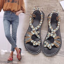 Summer Thick Flat Heel Women'S Sandals New Fashion Comfortable And Breathable An