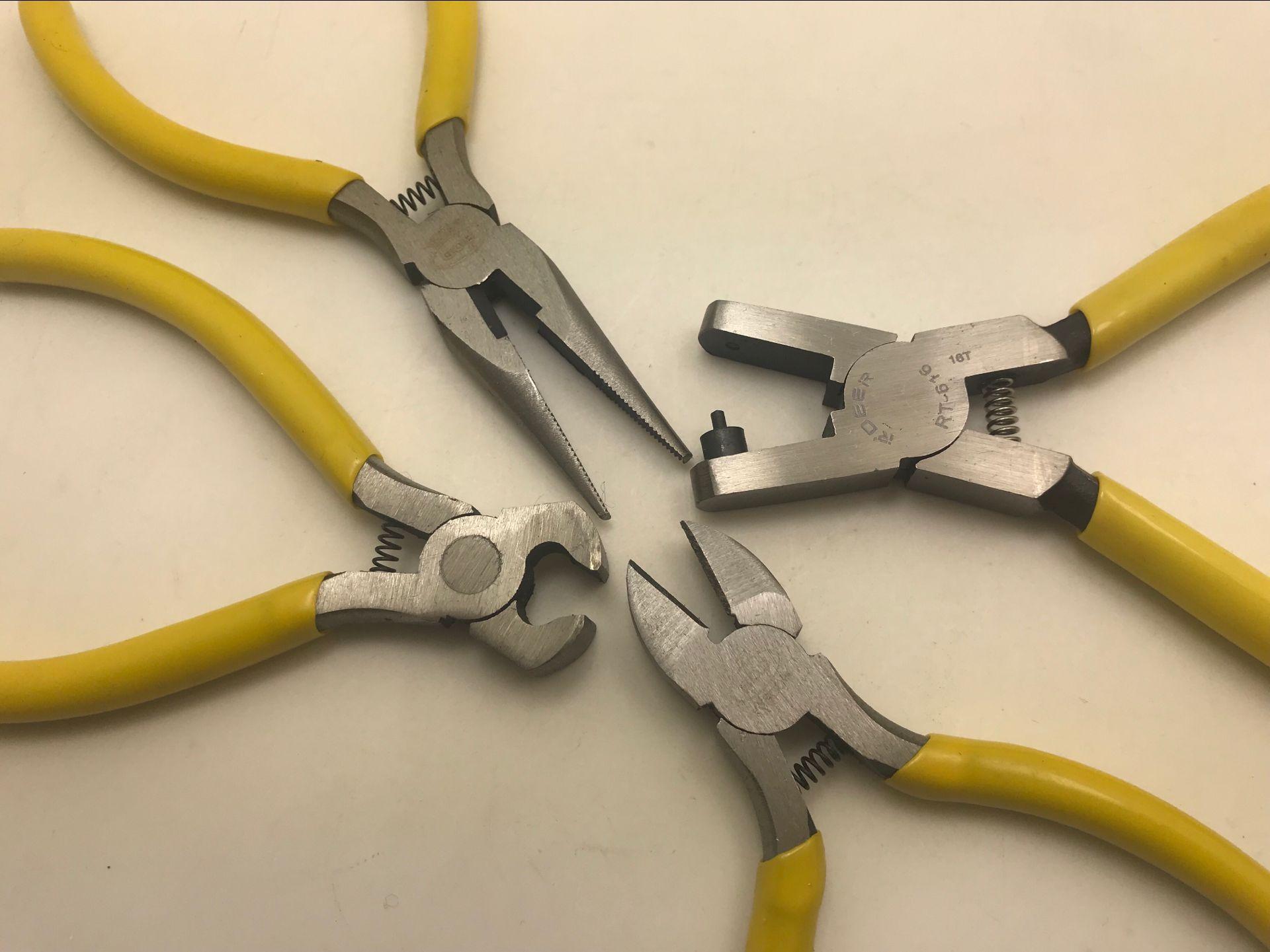 "Watch Repair Tool Plastic Nipper Punch Pliers ""Nipper Pliers Clamp Play Watch Strap Hole Pliers Power Tool Sets     - title="