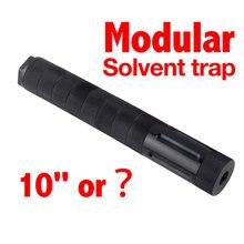 1.57 alumínio 1/2x28 filtro de combustível modular para napa wix carro 10 polegada 9mm solvente armadilha 1.375x24 adaptador 5/8x24