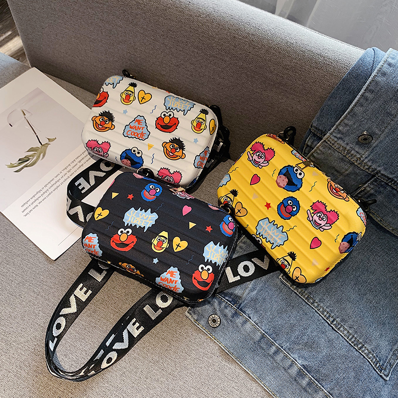 Luxury Shoulder Bags For Women Fashion Small Luggage Bag 2020 New Suitcase Shape Mini Bag PU Single Cartoon Clutch Bag