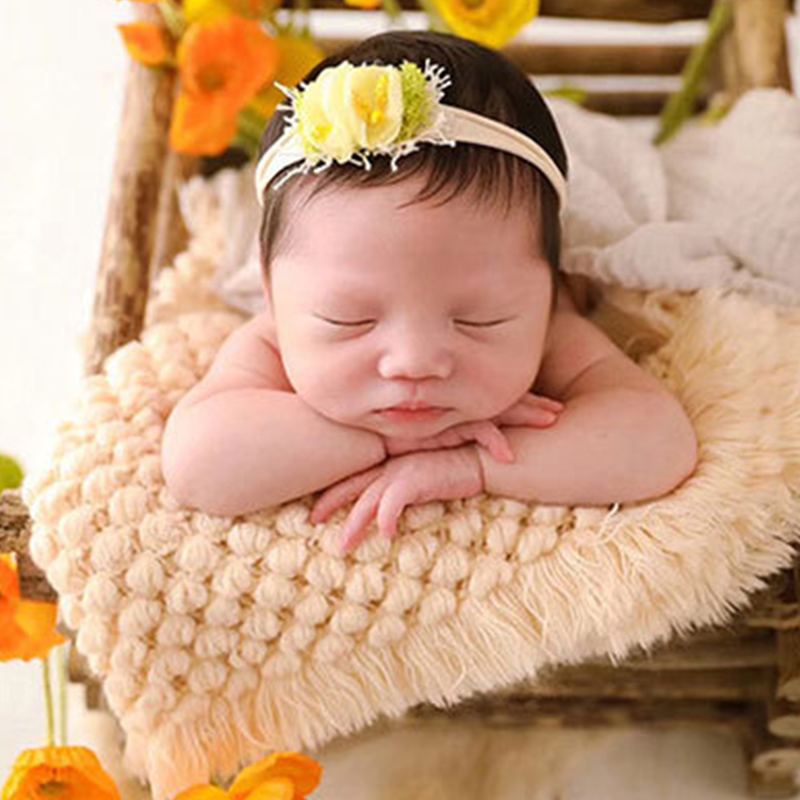 Baby Blanket Newborn Baby Photography Props Kids Photo Costume Infant Knitted Cotton Wrap Nursling Soft Blanket Dress Up For Boy