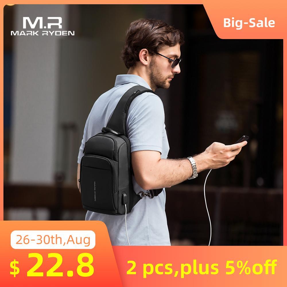Sling-Bag Crossbody-Bag Anti-Thief Mark Ryden iPad Waterproof Fashion Men Fit New