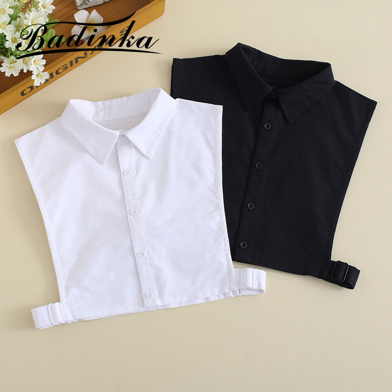 2019 New Black White Removable Fake Collar Shirt Blouse Women Faux Col Femmes Cols Amovibles Ladies False Detachable Collars