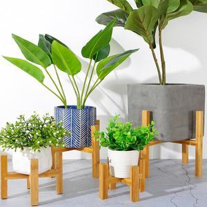 Wooden Four-legged Vase Flower Pot Slip Bracket Living Room Corridor Garden Potted Bracket Placed Storage Rack Easy to Install(China)