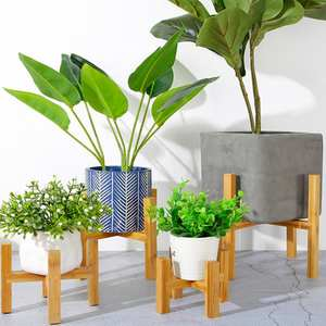 Vase Storage-Rack Flower-Pot Garden-Potted-Bracket Wooden Living-Room Easy-To-Install