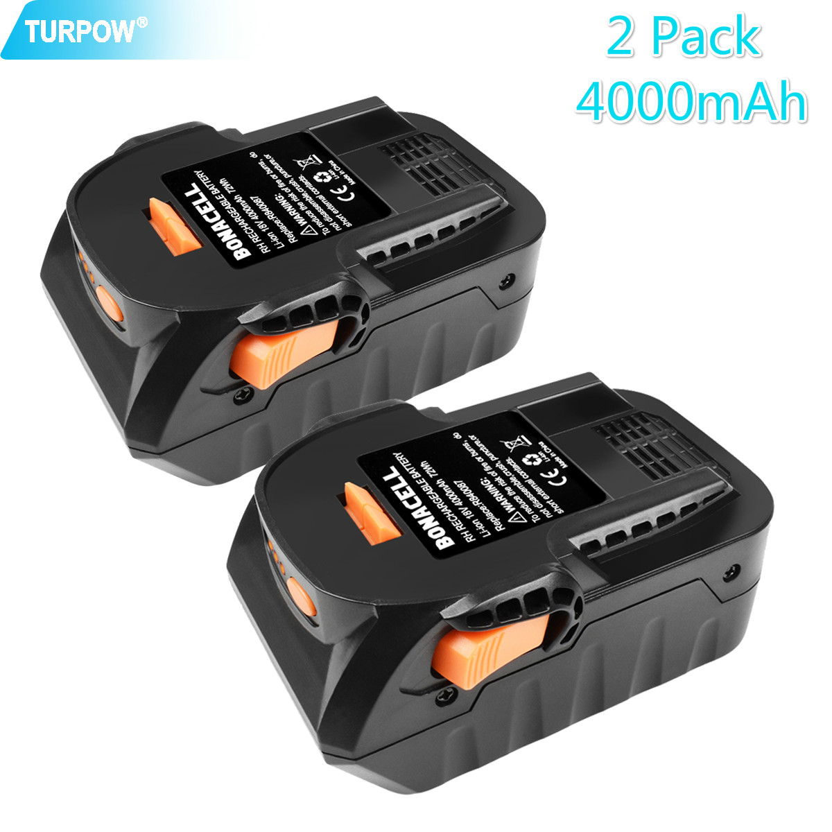 Turpow Battery Power-Tool RIDGID 18v li-Ion Aeg-Series Rechargeable 6000mah for R840083/R840085/R840086/.. title=