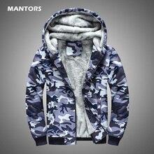 Men Winter Fleece Hoodies Navy Camouflage Sweatshirt Coats 2020 Casual Men's Military Jacket Clothes Thick Warm Hoodie Cardigan