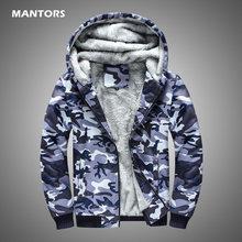 Sudaderas con capucha de lana para hombre, sudadera de camuflaje marino, abrigos, chaqueta militar informal para hombre, ropa gruesa y cálida, cárdigan con capucha 2020