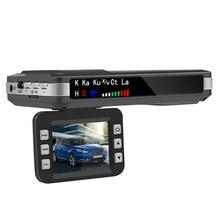 Vodool 2 em 1 hd câmera do carro dvr dashboard câmera inglês russo voz detector de radar x k ct la câmera traço do carro dvr para o carro