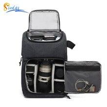 Su geçirmez kamera çantası fotoğraf kameraları sırt çantası Canon Nikon Sony için Xiaomi dizüstü DSLR taşınabilir seyahat Tripod Lens çantası Video çantası