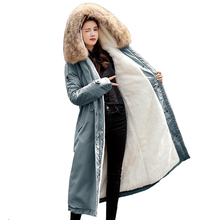 Winter Coat Hooded Jacket Women X-Long Thick Lining Fluff Fur Clothess-30-Degreessnow-Wear