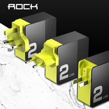 ROCK 30W Dual Port Fast Charge for EU US UK Mobile Phone Charger PD3.0 QC4.0 FCP SCP Quick Charge for iPhone X 8 Huawei P20 P30