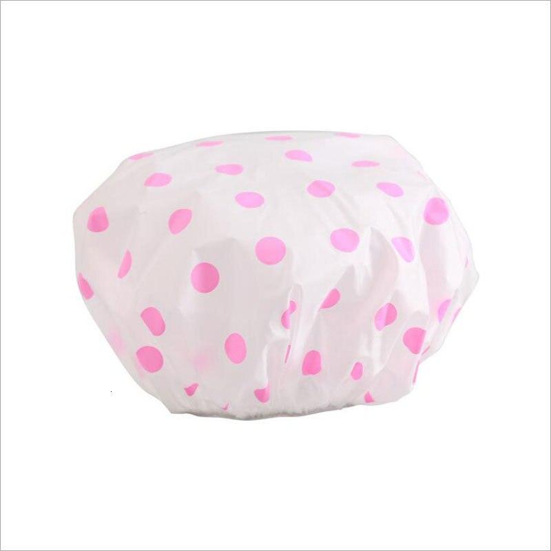 Hot Sale Waterproof Shower Cap Thicken Elastic Bath Hat Bathing Cap For Women Spa Bathing Accessory Hair Salon Bathroom Product 19